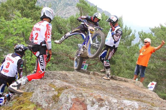 Albert Cabestany en acción Trial Andorra.Fotografía Joan Carles Vázquez