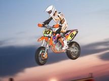 Espectacular tercera prueba nocturna del Trofeo FCM Supermotard en Alcarrás