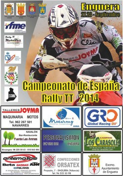 Cartel rally TT Enguera 2014