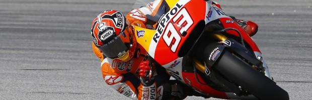 Marc Márquez maravilla en la carrera MotoGP de Sepang, Rossi 2º y Lorenzo 3º