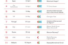 Calendario del Mundial de Superbike 2015