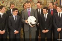 Los Márquez, Bou y Rabat recibidos en el Palacio de la Zarzuela