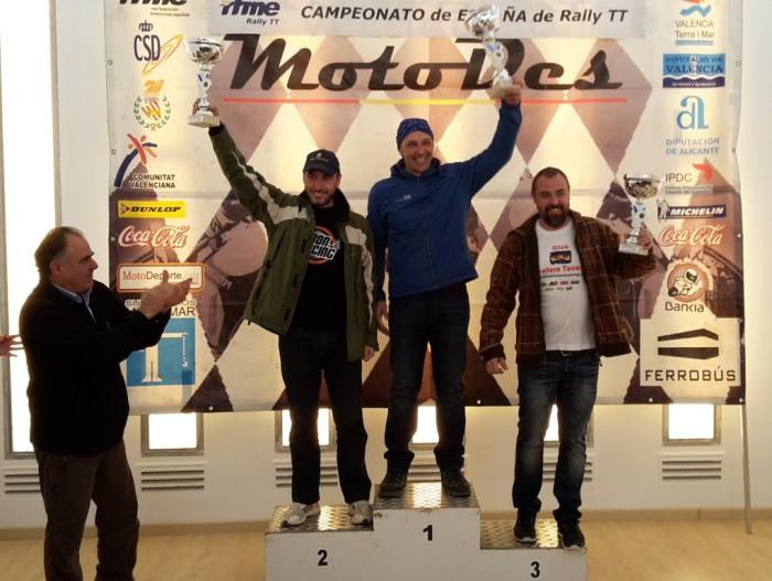 Pódium carrera Sant Mateu categoría Trail Sant Mateu 2014