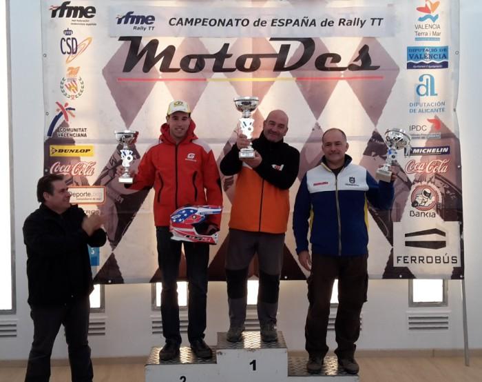 Pódium carrera categoría Enduro Sant Mateu 2014