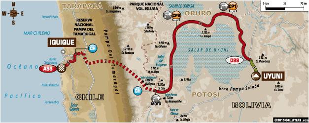 Dakar 2015 Etapa 8: Uyuni – Iquique