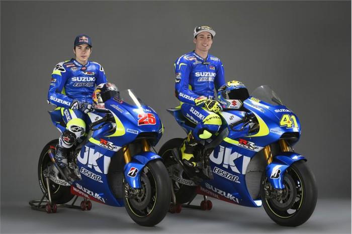 Aleix Espargaro y mack Viñales Suzuki