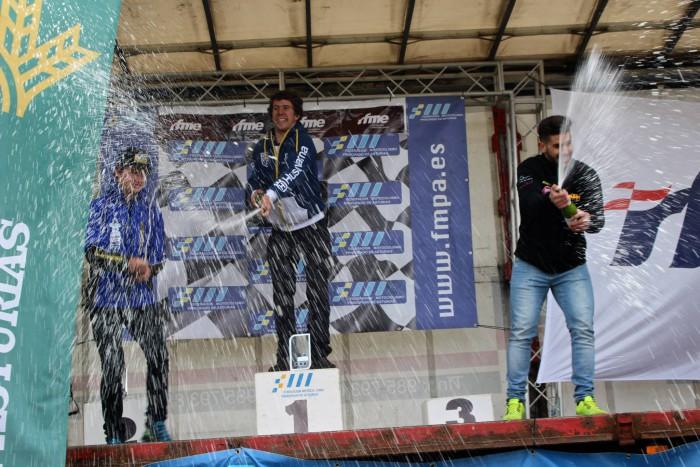 Pódium categoría Junior Cross Country Asturias 2015