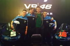 Fenati y Migno en la presentación del Sky Racing Team VR46 Moto3 en Tavulia