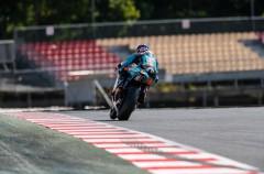 Los pilotos y equipos de Moto2 aprovechan el test en Catalunya