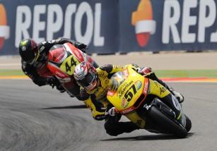 Edgar Pons logra el doblete del Europeo de Moto2 en Motorland Aragón
