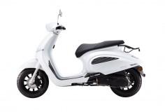 La marca Daelim trae su Besbi 125, scooter retro futurista