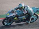 Dennis Foggia gana la carrera de Moto3 en Motorland Aragón, Oncu 2º y 3º Sasaki