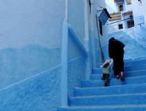 Chaouen y sus casas blanco azulado