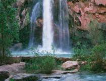 Las espectaculares cataratas Havasu, en Arizona