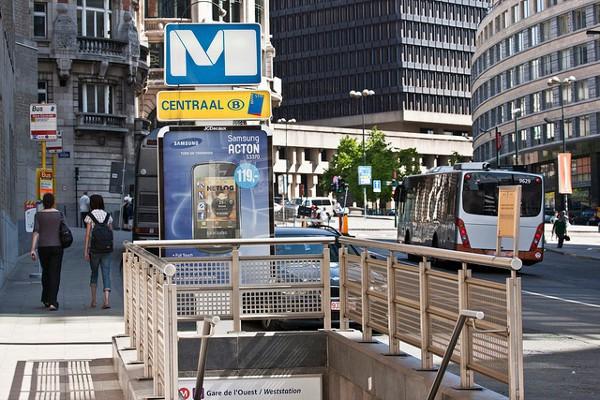 Bruselas Central, una de las paradas más importantes del Metro de Bruselas