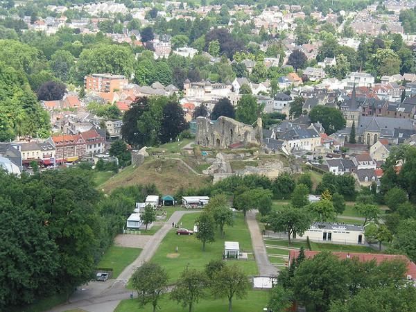 Vistas de la ciudad de Valkeburg aan de Geul, en Limburgo