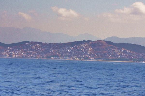 Ciudad costera turística