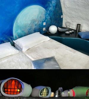 Un alojamiento original en burbujas de diferente diseño interior