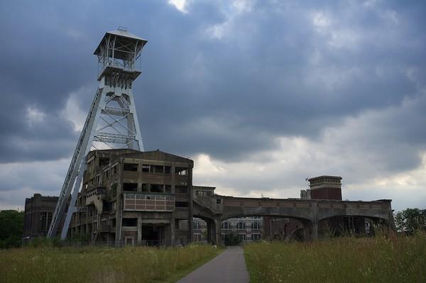 Una de las minas que ya no funcionan en Genk