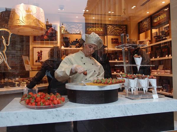 Godiva Chocolatier, en la Grand Place de Bruselas
