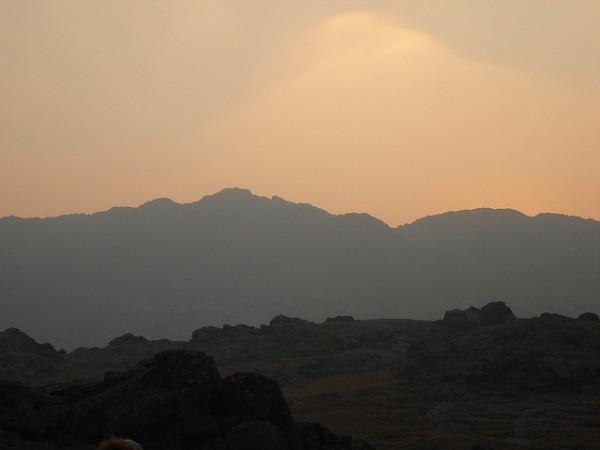 Imagen del cerro al atardecer