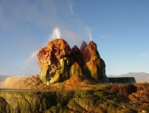 Fly Geyser, el impresionante géiser de Nevada
