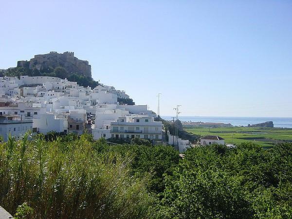 Salobreña, blancas casas frente al mar