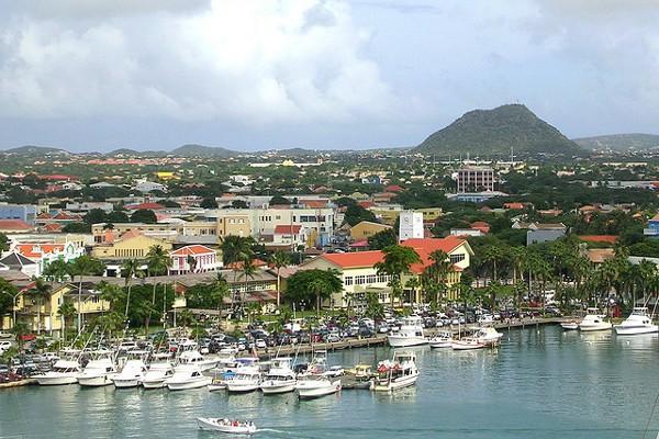 La isla de Aruba, en el Caribe Neerlandés
