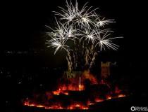 El espectáculo del fuego en el Rin