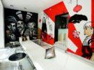 Dormirdcine, un alojamiento diferente decorado por 100 artistas urbanos