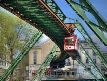 El tren colgante Schwebebahn en Wuppertal