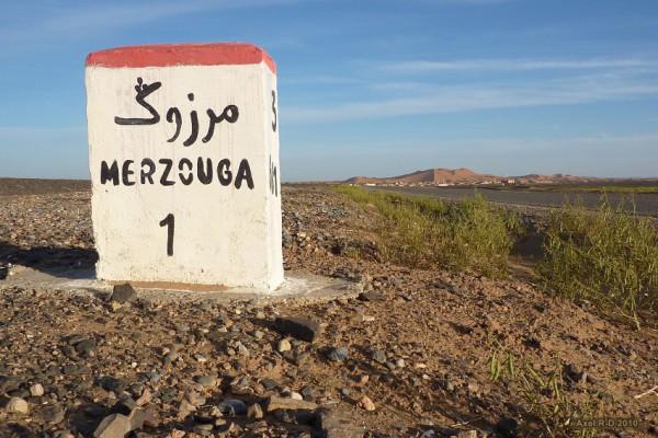 Las Dunas de Merzouga se halla en el desierto de Erg Chebbi