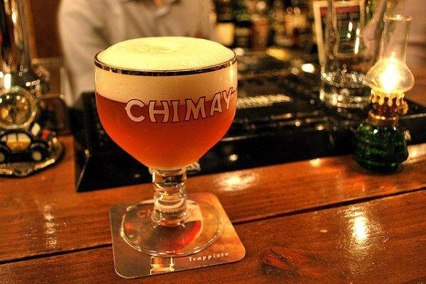 Cerveza Chimay, una de las más conocidas de Bélgica