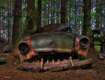 El cementerio de coches del bosque de Chatillon