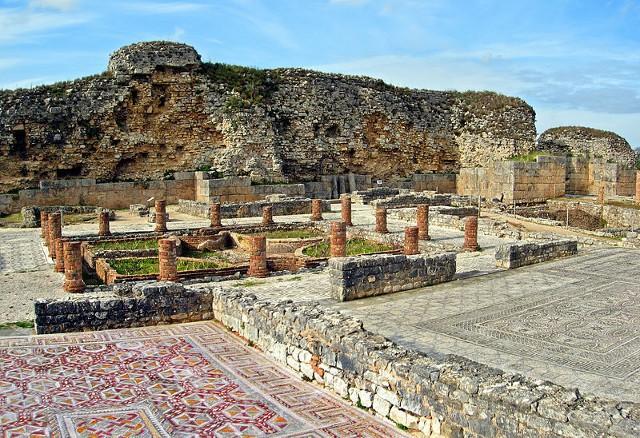 Vista general de las ruinas romanas de Conímbriga