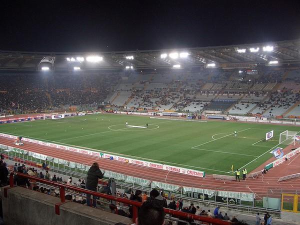 El Olímpico es el estadio de fútbol más grande de Roma