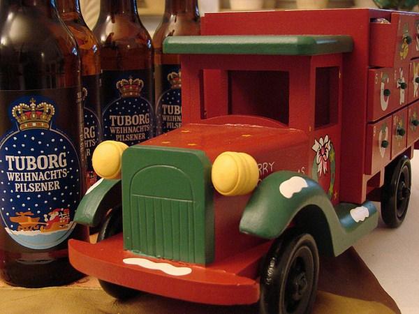 Cervezas danesas en Navidad