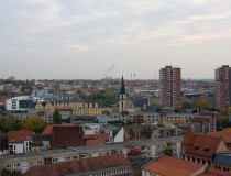 Halle, ciudad salada en Sajonia-Anhalt