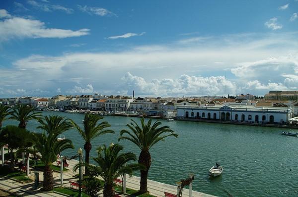 Vistas de Tavira, bonito pueblo del Algarve