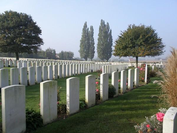 Tyne Cot es uno de los mayores cementerios del mundo