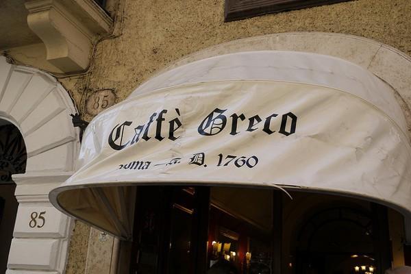 Antiguo Café Greco, el más antiguo y famoso de Roma