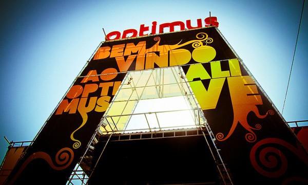 Portada del festival lisboeta Optimus Alive