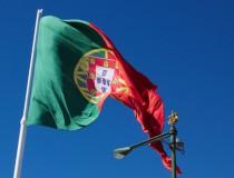 La bandera y escudo de Portugal