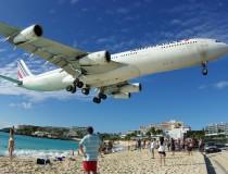 El Aeropuerto Princesa Juliana, en el Caribe Holandés