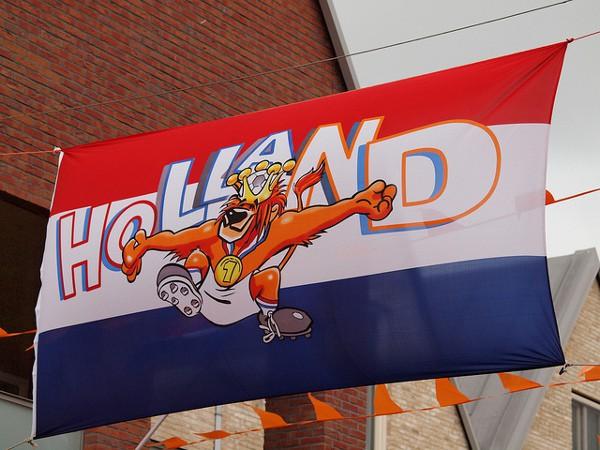 La bandera de Holanda o Países Bajos