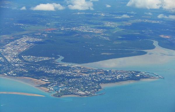 Vista aéreea de Darwin, en Australia