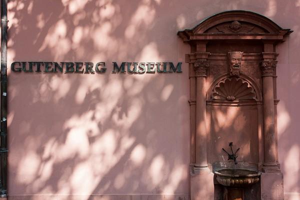 Fachada del Museo Gutenberg, en Maguncia