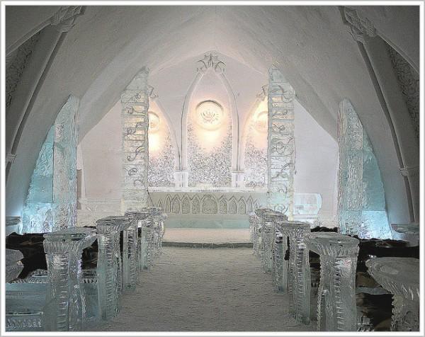 Hotel de Glace, habitaciones de hielo en la ciudad