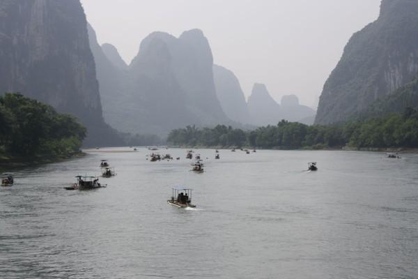 Río Li, un sitio rodeado de colinas