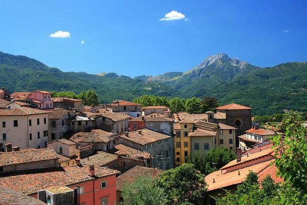 Vistas de Barga, un bonito pueblo de la Toscana